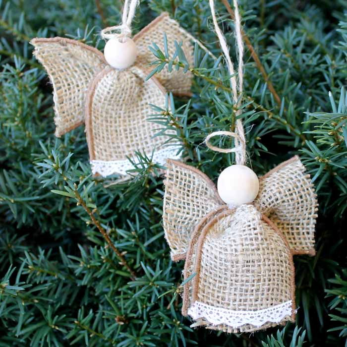 Make These Angel Ornaments From Burlap In Just Minutes! An Easy Christmas  Craft That Anyone