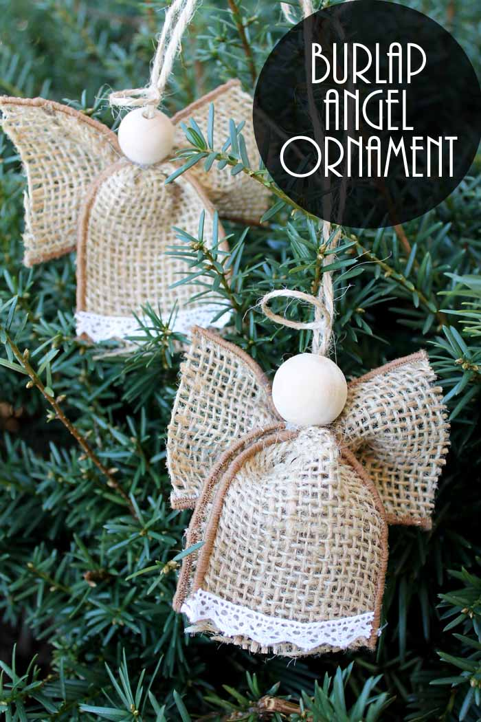 Angel Ornaments Made From Burlap The Country Chic Cottage