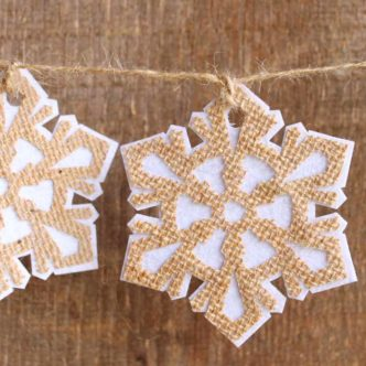 Burlap Garland:  Snowflakes with Your Cricut Maker