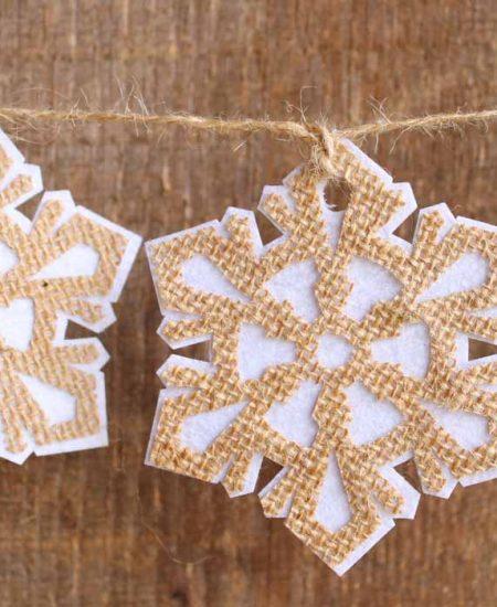 rustic snowflake garland