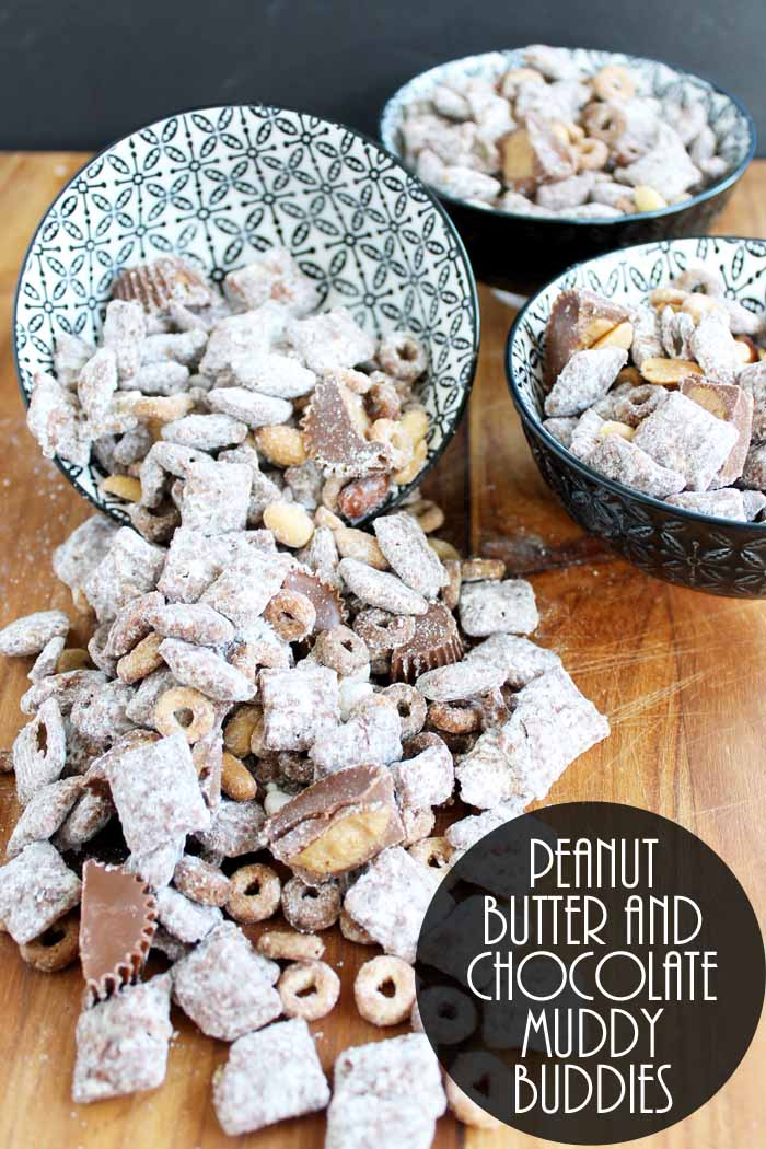 Make these Chex mix muddy buddies for your holiday celebration! Chocolate Peanut Butter Muddy Buddies are a perfect combination!