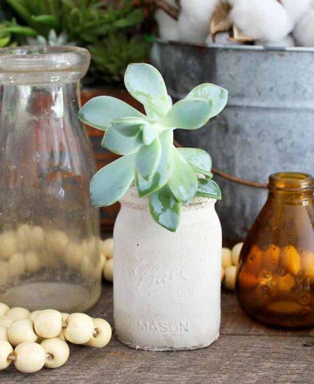 farmhouse style succulent planter