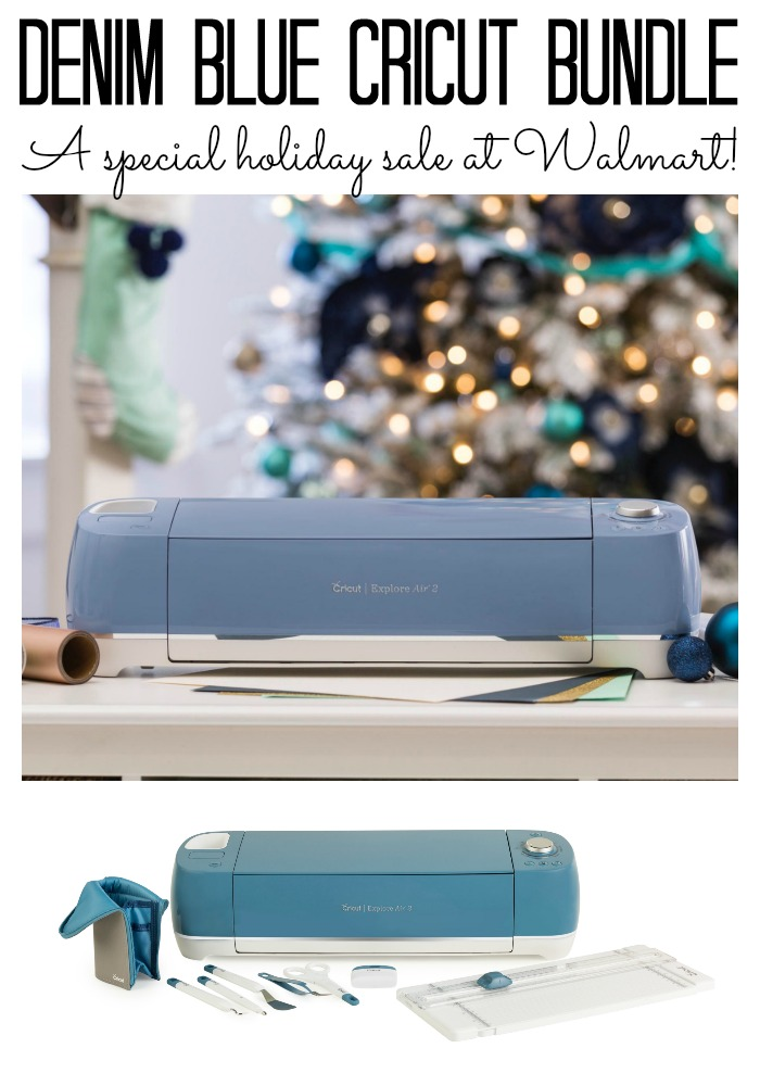 A special Cricut machine sale for the holidays! Don't miss this denim blue bundle at Walmart!