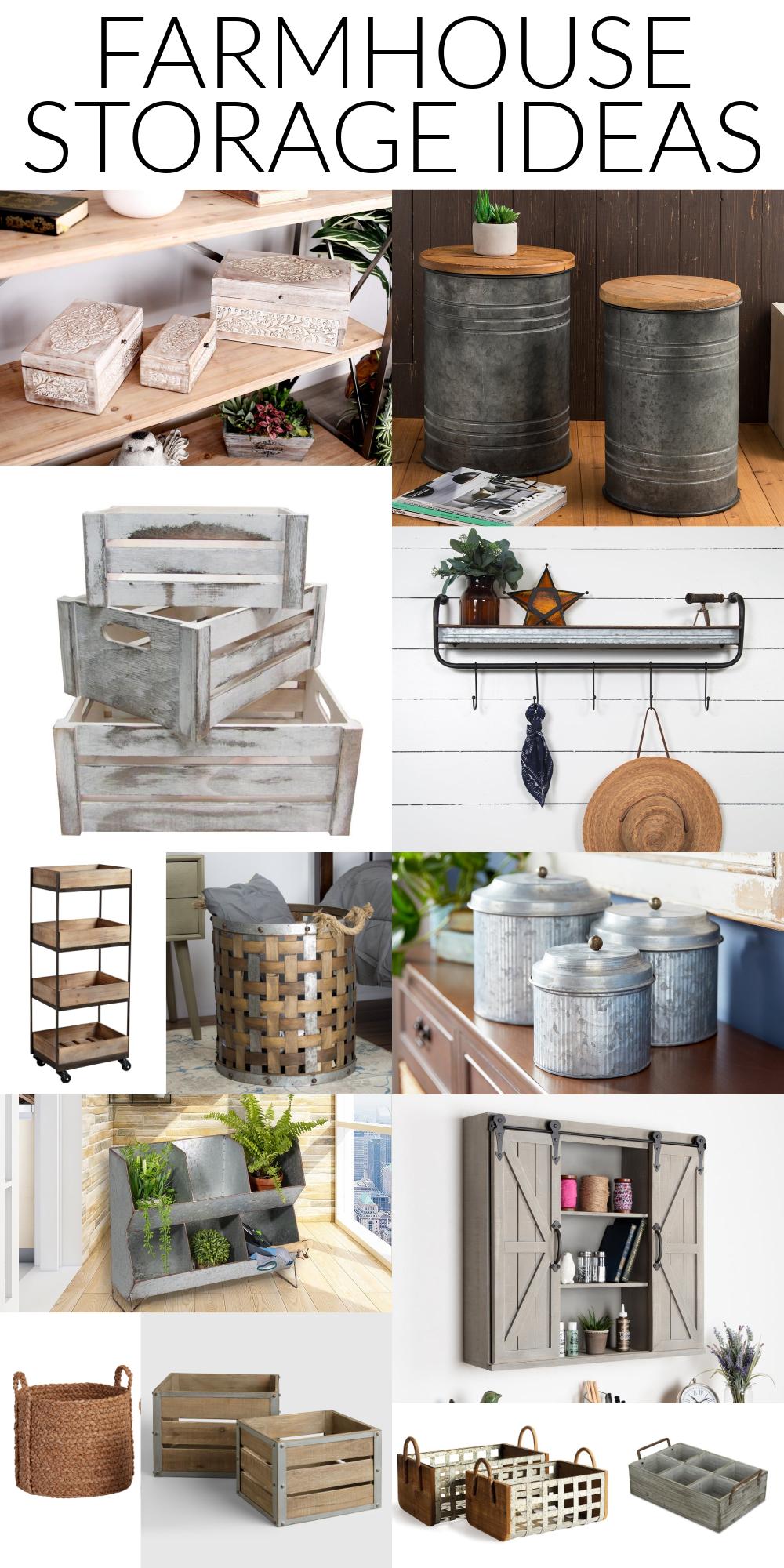 farmhouse decorative storage