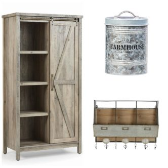 Decorative Storage with Farmhouse Style