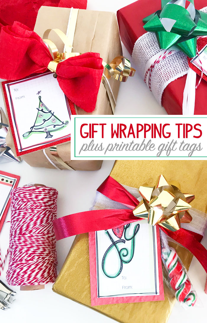 Gift Wrapping Tips and Free Printable Gift Tags