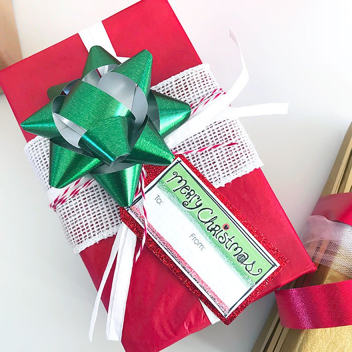 Add layers of ribbon, twine and bows to pretty up a gift