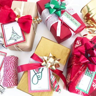 Easy gift wrapping tips and free gift tags