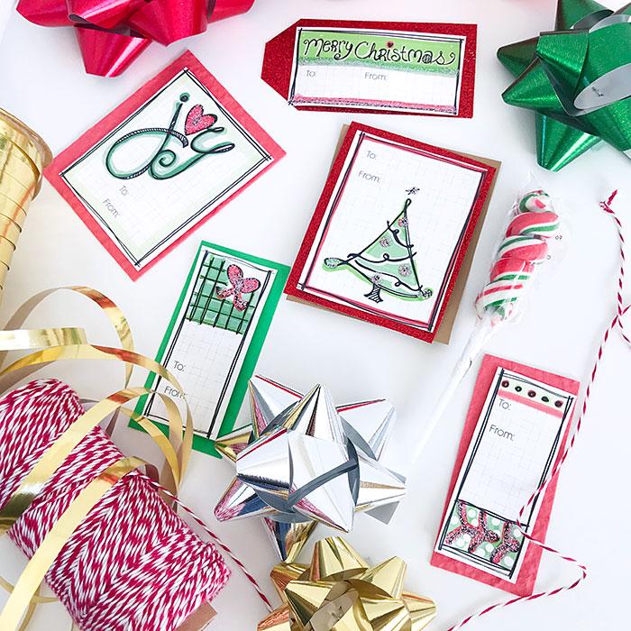 Gift tags, ribbons and extra treats make gift wrapping fun