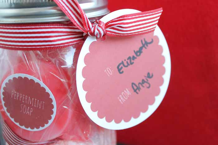 peppermint pampering gift tag