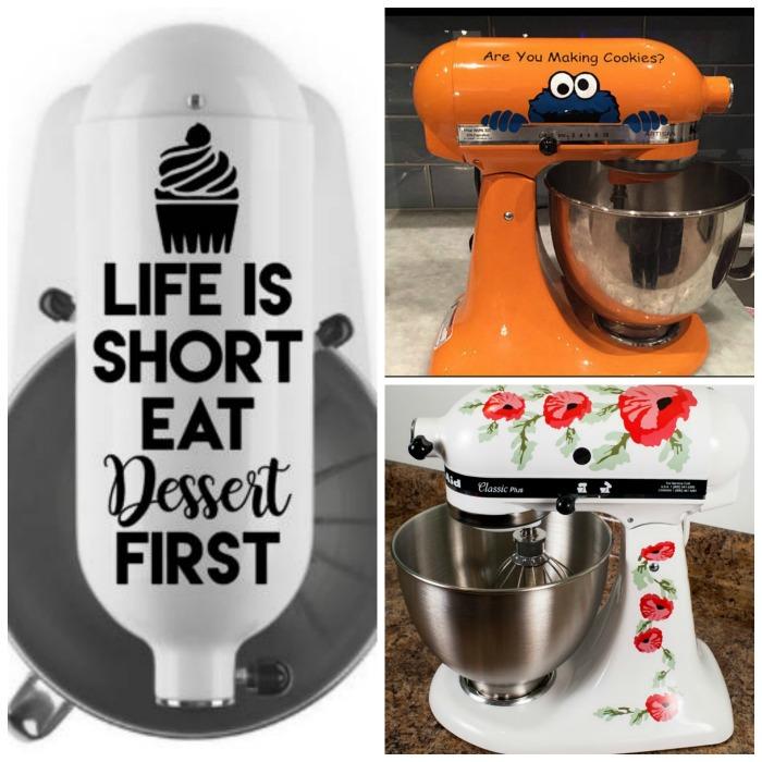 Diy Kitchenaid Mixer Decals ~ Kitchenaid mixer decals decorate your stand the