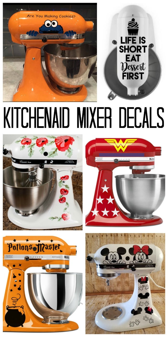 Attirant A Collection Of KitchenAid Mixer Decals To Really Amp Up Your Machine!