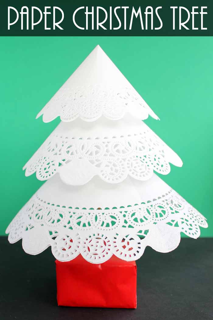 make this paper christmas tree from paper doilies a quick and easy holiday decor project - How To Make Paper Christmas Trees