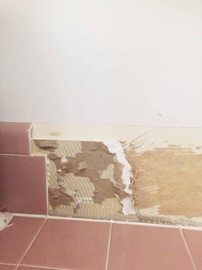 removing tile backsplash from a kitchen