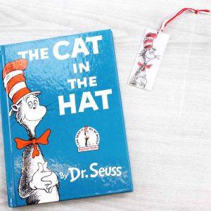 cat in the hat bookmark