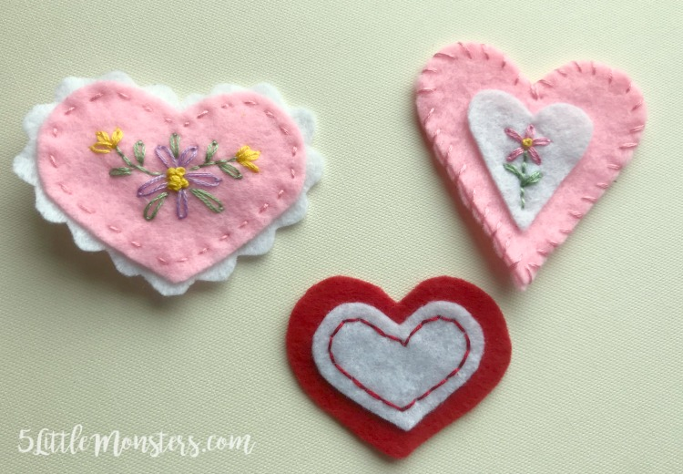 Quick and easy felt crafts in 15 minutes or less!
