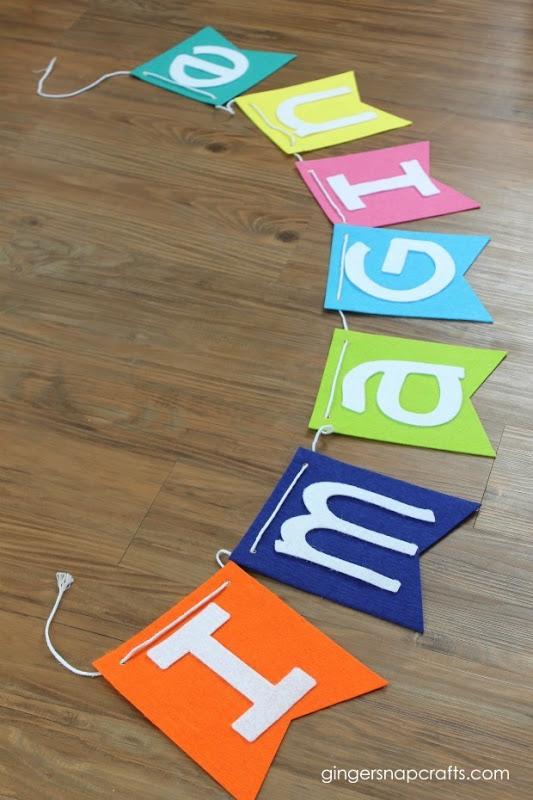felt banner on a table