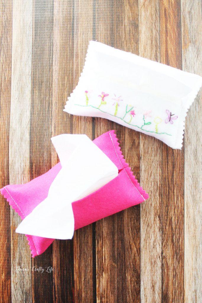felt tissue holder