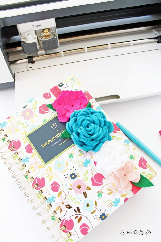 felt floral book mark