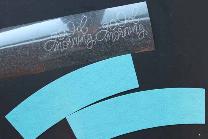 Make your own coffee sleeves with customized designs! So simple with your Cricut and EasyPress! Get the cut file for the good morning coffee cup sleeve as well!