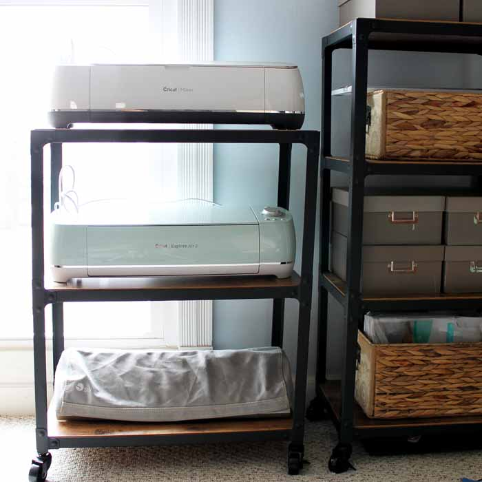 Use this craft storage cart for your Cricut machine and more! The perfect solution!