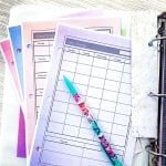Print planner pages on colored background paper