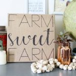 Make this farmhouse sign in minutes! Quick and easy way to turn burlap into art with a free template!