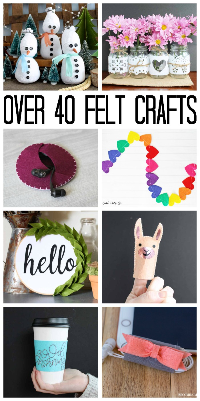 Over 40 felt crafts that are easy to make! Make any of these items in just 15 minutes or less!