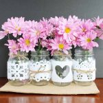 Wedding Mason Jars:  Made with Cut Felt