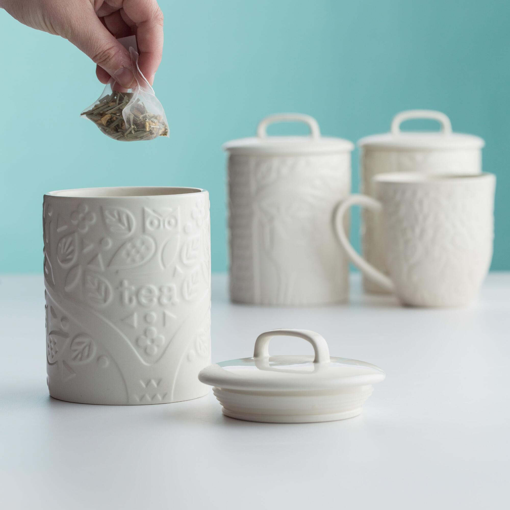 white farmhouse canisters