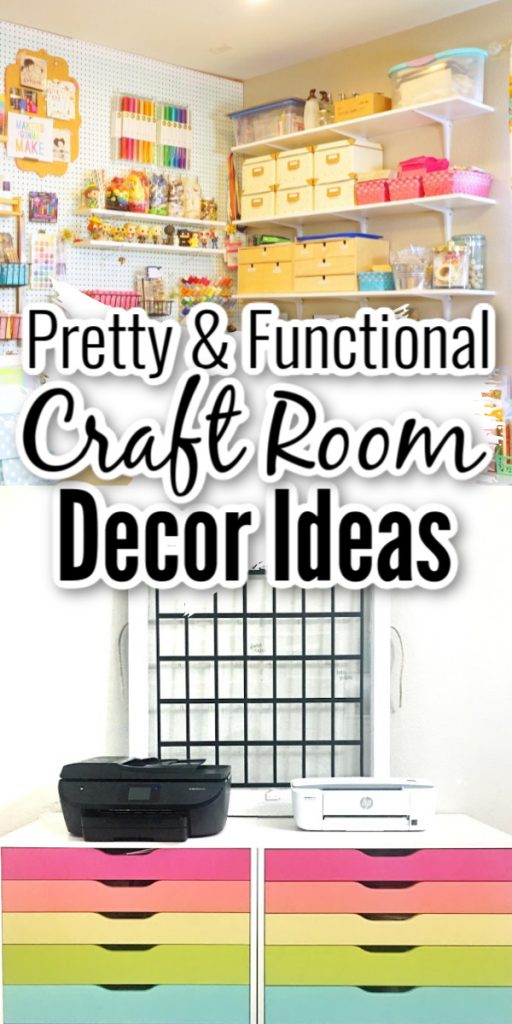 Got a craft room and looking for decor ideas! We have a ton of ideas that you will love! #craftroom #crafting #decor #homedecor