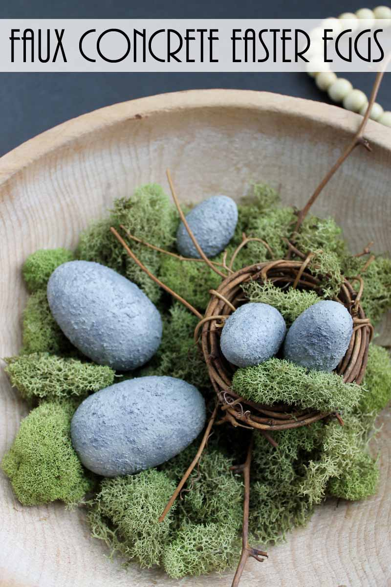 cement crafts easter eggs
