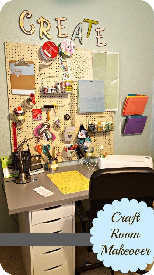 pegboard in a craft room