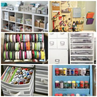 Craft Organizer:  Tips and Hacks for Organizing Your Supplies
