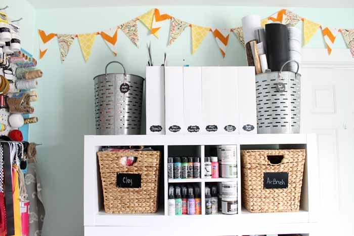 bins for craft room organization