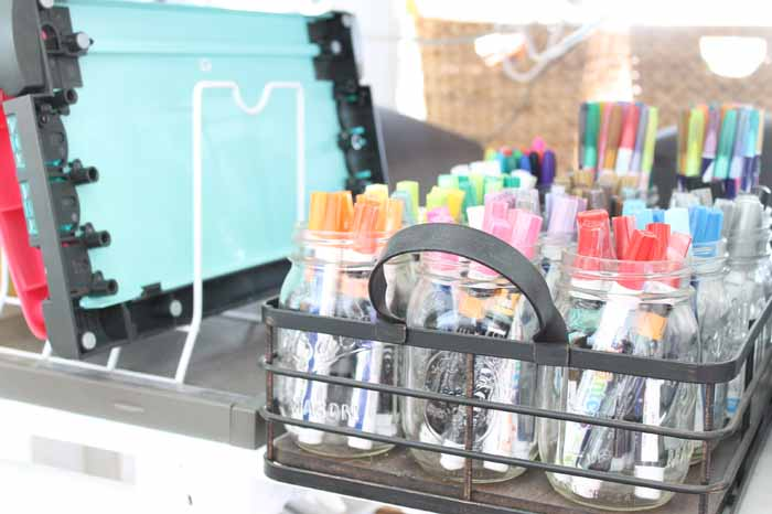 Craft room organization - ideas from a blogger that will work in any space!