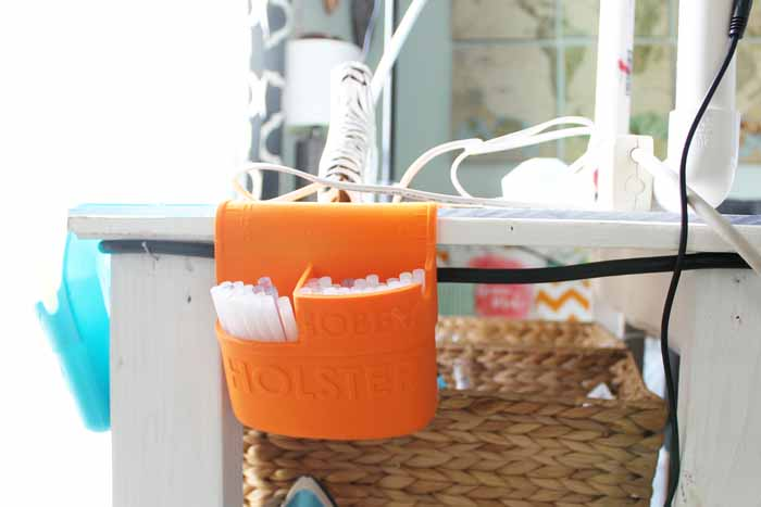 hanging organizer for glue sticks