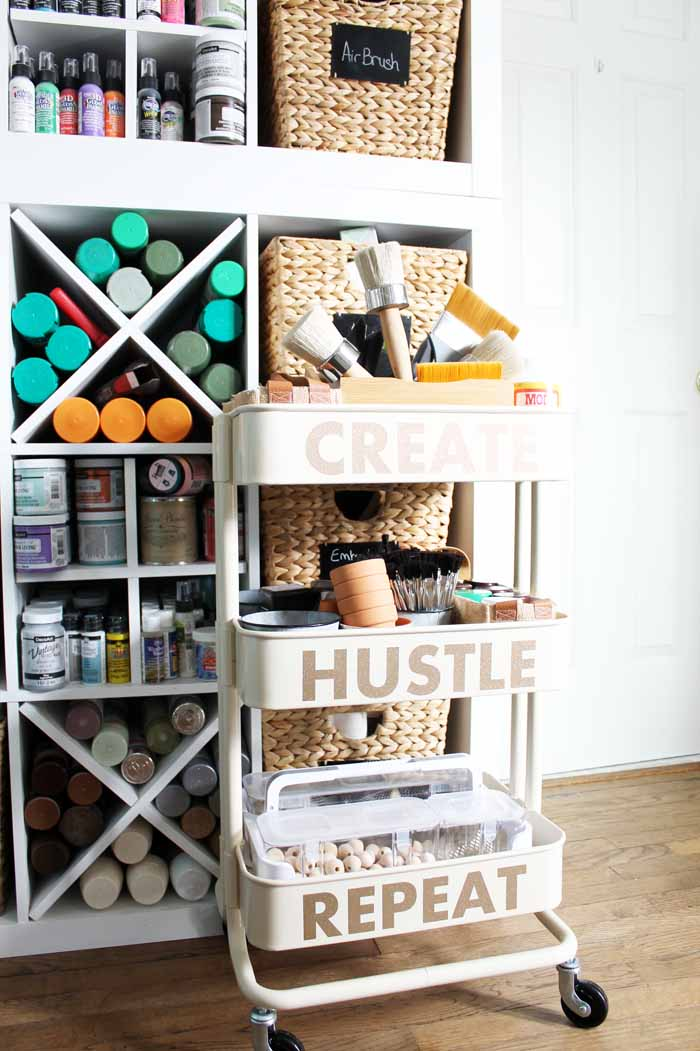 craft room storage cart