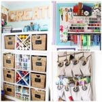 Craft Room Organization:  Ideas from a Craft Blogger