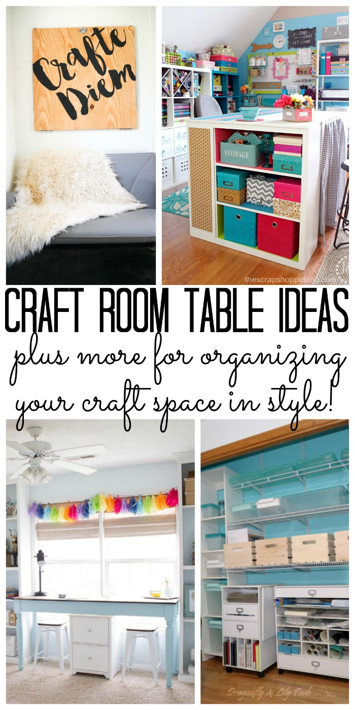 Ideas for a craft room table and so much more in this post!