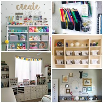 Create the craft space of your dreams with these ideas! Great ideas for organization and even small spaces!