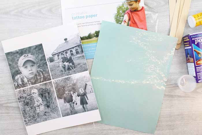using tattoo paper to transfer photos to wood