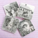 Make these DIY photo coasters for your home or as a Mother's Day gift! Easy to follow instructions and a video!