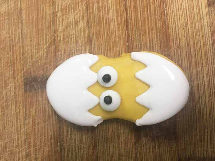 easter chick cookie from nutter butters