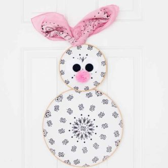 Easter Wreath:  An Easter Bunny from Bandannas