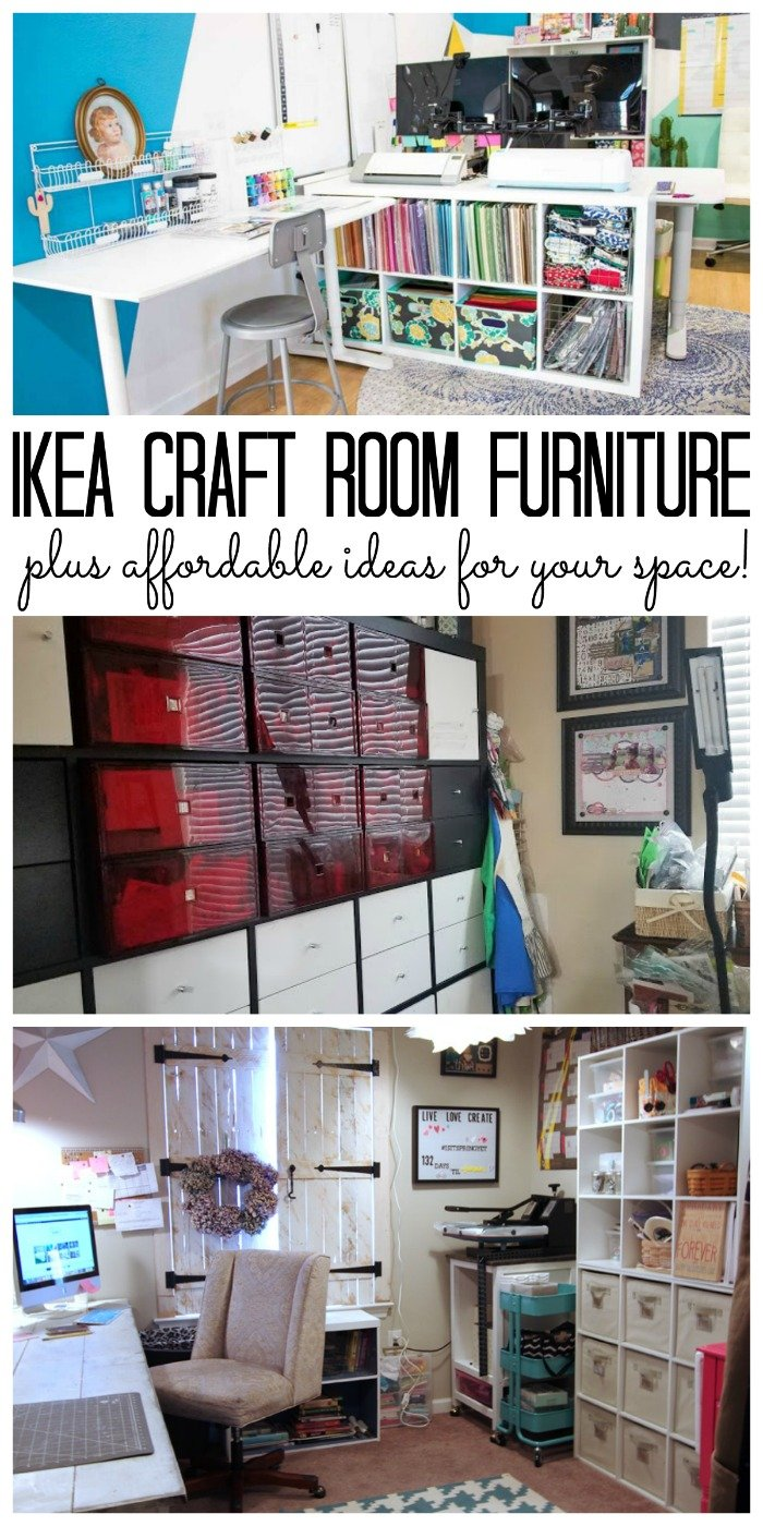 IKEA craft room furniture - includes affordable ideas for any craft space!