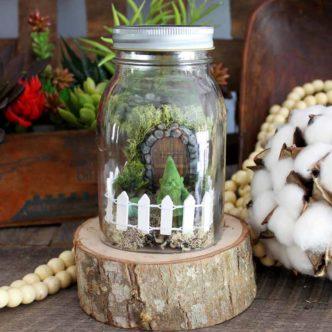 Mini Fairy Garden:  An Adorable Spring Craft