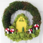 Spring Wreath Ideas:  A Fairy Garden on Your Door