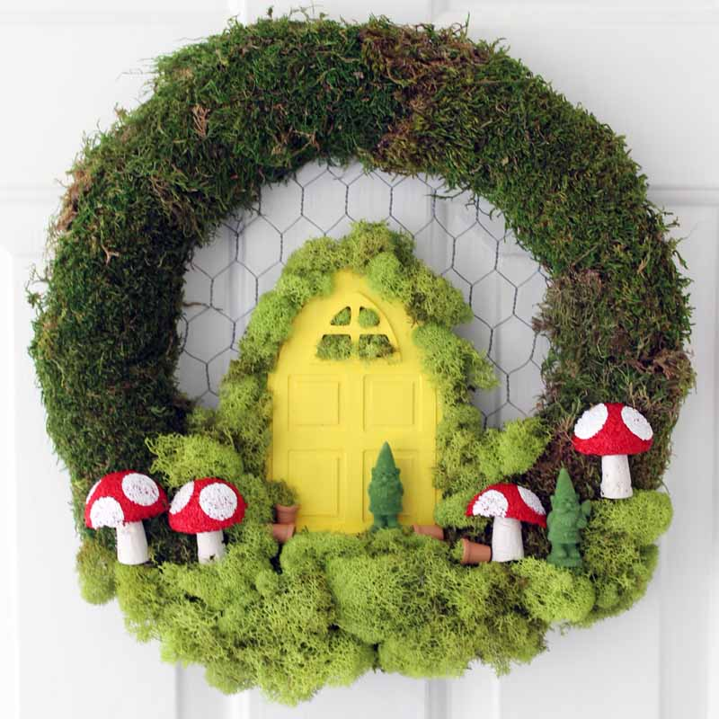 Spring Wreath Ideas: Hang A Fairy Garden On Your Door! Make This Great  Wreath