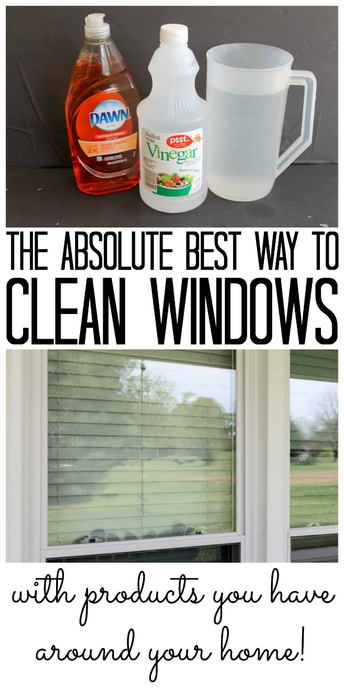 The absolute best way to clean windows and all of the supplies are probably on hand around your home!